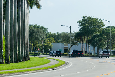 President Donald J. Trump's motorcade travels east on Summit Blvd., on its way to Trump International Golf Club in West Palm Beach on Saturday, January 04, 2020. [JOSEPH FORZANO/palmbeachpost.com]