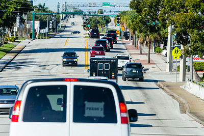 President Donald J. Trump's motorcade travels along Southern Blvd., on its way to Trump International Golf Club on Summit Blvd. in West Palm Beach on Sunday, January 05, 2020. [JOSEPH FORZANO/palmbeachpost.com]