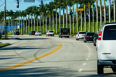 President Donald J. Trump's motorcade travels along Congress Ave., on its way to Trump International Golf Club on Summit Blvd. in West Palm Beach on Sunday, January 05, 2020. [JOSEPH FORZANO/palmbeachpost.com]