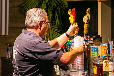 A server pours beer at the Funky Buddha Tap Room at the BB&T Center in Sunrise, FL on Thursday, February 13, 2020 where the Florida Panthers hosted the Philadelphia Flyers. The Flyers went on to beat the Panthers 5-2. [JOSEPH FORZANO/palmbeachpost.com]