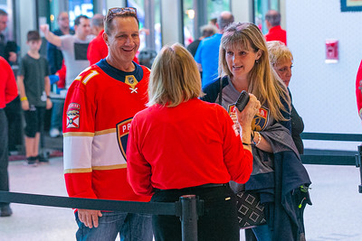Fans get their tickets checked at the BB&T Center in Sunrise, FL on Thursday, February 13, 2020 where the Florida Panthers hosted the Philadelphia Flyers. The Flyers went on to beat the Panthers 5-2. [JOSEPH FORZANO/palmbeachpost.com]
