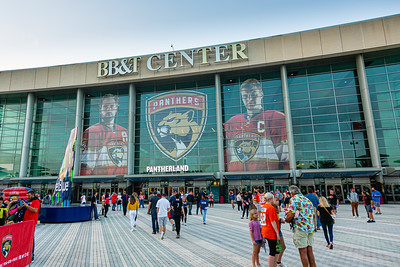 The Jet Blue Tarmac at the BB&T Center in Sunrise, FL on Thursday, February 13, 2020 where the Florida Panthers hosted the Philadelphia Flyers. The Flyers went on to beat the Panthers 6-2. [JOSEPH FORZANO/palmbeachpost.com]