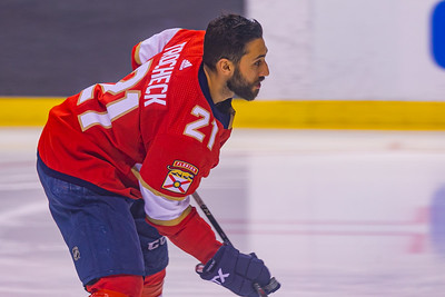 Vincent Trocheck during the warmup skate at the BB&T Center in Sunrise, FL on Thursday, February 13, 2020 where the Florida Panthers hosted the Philadelphia Flyers. The Flyers went on to beat the Panthers 5-2. [JOSEPH FORZANO/palmbeachpost.com]