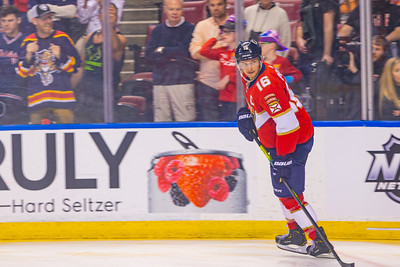 Aleksander Barkov during the warmup skate at the BB&T Center in Sunrise, FL on Thursday, February 13, 2020 where the Florida Panthers hosted the Philadelphia Flyers. The Flyers went on to beat the Panthers 5-2. [JOSEPH FORZANO/palmbeachpost.com]