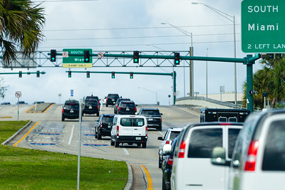 President Trump's motorcade heads west on Southern Blvd. on its way to Trump International Golf Course in West Palm Beach, FL, on Saturday, February 15, 2020. [JOSEPH FORZANO/palmbeachpost.com]