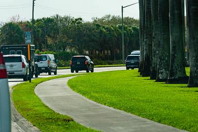 President Trump's motorcade leaves Trump International Golf Club in West Palm Beach,  on its way to Mar-a-Lago in Palm Beach, FL, on Saturday, February 15, 2020. [JOSEPH FORZANO/palmbeachpost.com]