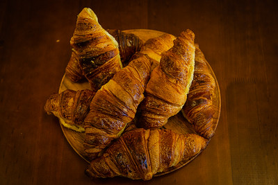 A plate of homemade croissants at  Blue Mountain Coffee House, located at 540 Clematis Street, #3, in West Palm Beach, FL on Thursday, February 20, 2020. [JOSEPH FORZANO/palmbeachpost.com]