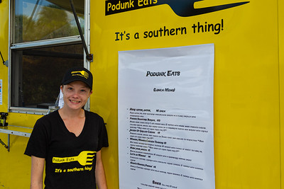 Angela Grear, owner of the Podunk Eats food truck, located on Ellison Wilson Road, across from Bert Wilders Park in Juno Beach, FL on Tuesday, February 25, 2020. The Podunk Eats food truck, owned by Angela and Dario Grear, specializes in southern comfrort food. [JOSEPH FORZANO/palmbeachpost.com]