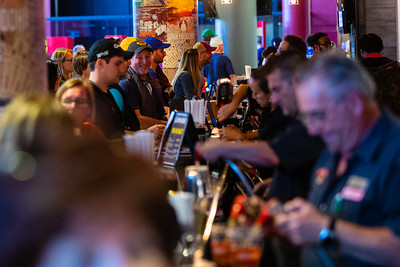 Fans flock to the Funky Buddha Tap Room at the BB&T Center in Sunrise, FL on Thursday, March 5, 2020 where the Florida Panthers hosted the Boston Bruins. The Bruins went on to beat the Panthers 2-1 in overtime. [JOSEPH FORZANO/palmbeachpost.com]