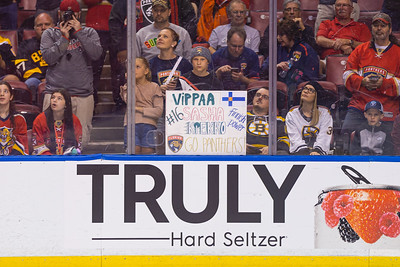 Fans hold a sign for Panthers captain Alexsander Barkov at the BB&T Center in Sunrise, FL on Thursday, March 5, 2020 where the Florida Panthers hosted the Boston Bruins. The Bruins went on to beat the Panthers 2-1 in overtime. [JOSEPH FORZANO/palmbeachpost.com]