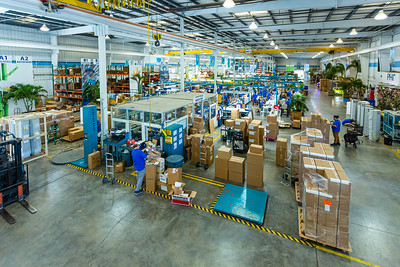 A view of one of the three RGF Environmental Group manufacturing plants  in Riviera Beach on Friday, March 27, 2020. Since the global coronavirus outbreak, their sales are up 500 percent, and they have added a third shift in their Riviera Beach  factory. [JOSEPH FORZANO/palmbeachpost.com]