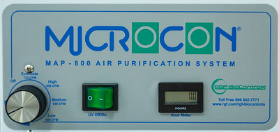 The control plate for the Microcon Mobile Air Purification systems at the RGF manufacturing plant in Riviera Beach on Friday, March 27, 2020. Since the global coronavirus outbreak, their sales are up 500 percent, and they have added a third shift in their Riviera Beach  factory. [JOSEPH FORZANO/palmbeachpost.com]