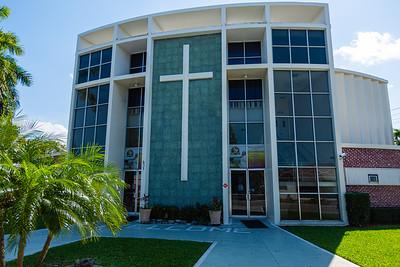 The Church of God Elected in Lake Worth Beach, held it's frist streaming service on Wednesday due to the coronavirus pandemic, Friday, April 3, 2020. [JOSEPH FORZANO/palmbeachpost.com]