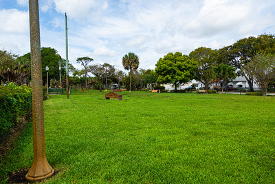 The dog park at Mary Brandon Park in West Palm Beach is empty on Tuesday, March 31, 2020. The park is closed until further notice due to the coronavirus pandemic. [JOSEPH FORZANO/palmbeachpost.com]