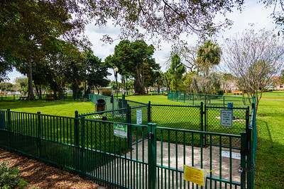 The City Paws dog park at Howard Park in West Palm Beach is empty on Tuesday, March 31, 2020. The park is closed until further notice due to the coronavirus outbreak. [JOSEPH FORZANO/palmbeachpost.com]