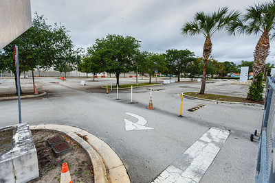 The parking lot at Forest Hill High School in West Palm Beach is empty, Monday, April 6, 2020. Palm Beach County Schools have been closed since March 16 due to the coronavirus pandemic. [JOSEPH FORZANO/palmbeachpost.com]