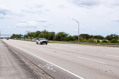 Traffic is sparse looking east on Southern Blvd. in West Palm Beach, FL, Monday, April 20, 2020. [JOSEPH FORZANO/palmbeachpost.com]