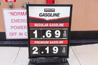 Gas prices are $1.69 at the Costco in Royal Palm Beach, FL, Monday, April 20, 2020. [JOSEPH FORZANO/palmbeachpost.com]