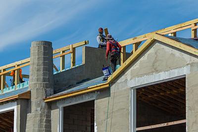 Construction crews continue working at the 456 South Ocean Boulevard site in Palm Beach, Wednesday, April 22, 2020. [JOSEPH FORZANO/palmbeachdailynews.com]