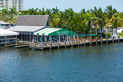 Two Georges at the Boynton Harbor Marina on the Intracoastal Waterway in Boynton Beach is closed due to the coronavirus pandemic, Monday, April 27, 2020. [JOSEPH FORZANO/palmbeachpost.com]