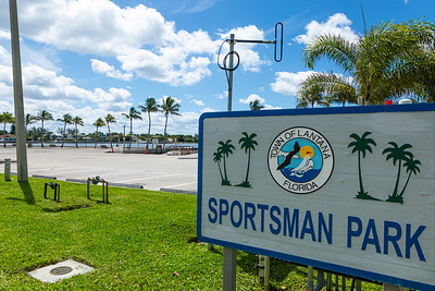 Sportsman Park in Lantana is closed the day before Palm Beach County is set to open up boat ramps, parks, golf courses and community pools, Tuesday, April 28, 2020. [JOSEPH FORZANO/palmbeachpost.com]