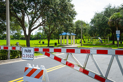 Boynton Beach Park in Boynton Beach is closed, Wednesday, April 29, 2020. [JOSEPH FORZANO/palmbeachpost.com]