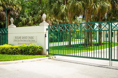 Sugar Sand Park in Boca Raton is closed, Wednesday, April 29, 2020. [JOSEPH FORZANO/palmbeachpost.com]