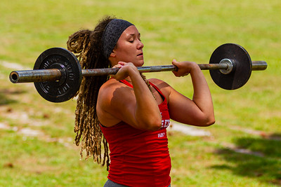 Caitlin Chandler of West Palm Beach works out in  Okeeheelee Park in West Palm Beach, Wednesday, April 6, 2020. Palm Beach County started reopening parks on April 29, easing mandated coronavirus restrictions. [JOSEPH FORZANO/palmbeachpost.com]