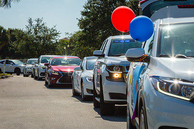 The cars begin lining up for the special Mother's Day Parade at MorseLife in West Palm Beach, Saturday, May 9, 2020. Residents at MorseLife have been in isolation since the outbreak of the coronavirus. [JOSEPH FORZANO/palmbeachpost.com]