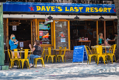 Dave's Last Resort and Raw Bar on Lake Avenue in Lake Worth Beach is open for business after being closed due to the coronavirus pandemic, Tuesday, May 12, 2020. Outdoor seating is available and social distancing protocols are being followed. [JOSEPH FORZANO/palmbeachpost.com]