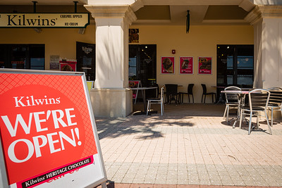 Kilwins Chocolates at Lake Worth Beach Park in Lake Worth Beach is open for business after being closed due to the coronavirus pandemic, Tuesday, May 12, 2020. Outdoor seating is available and social distancing protocols are being followed. [JOSEPH FORZANO/palmbeachpost.com]
