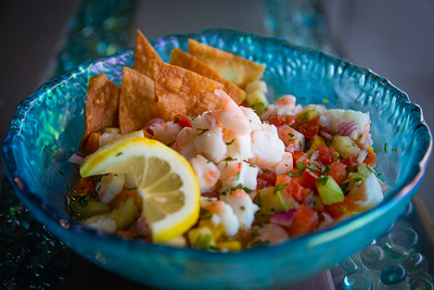 Shrimp ceviche made with Key West pink shrimp (also known as conch chowder) at Catch Clean Cook Marketplace and Deli on Alternate A1A in North Palm Beach, Monday, June 1, 2020. [JOSEPH FORZANO/palmbeachpost.com]