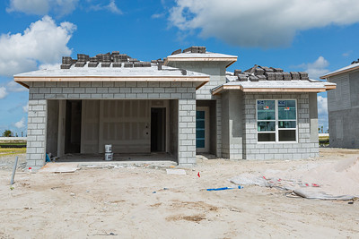 One of the houses under construction at Watermark, one of the Toll Brothers gated developments at Avenir in Palm Beach Gardens, Tuesday, June 23, 2020. [JOSEPH FORZANO/palmbeachpost.com]