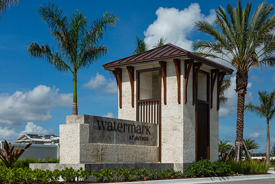 The entry to Watermark, one of the Toll Brothers gated developments at Avenir in Palm Beach Gardens, Tuesday, June 23, 2020. [JOSEPH FORZANO/palmbeachpost.com]