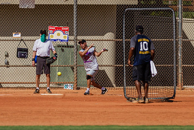 Several teams took to the ball fields to play softball at John Prince Park in Lake Worth, Wednesday, July 1, 2020. [JOSEPH FORZANO/palmbeachpost.com]