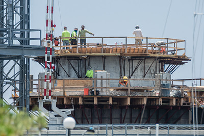 Work continues on the new Southern Blvd. Bridge in West Palm Beach, Tuesday, July 14, 2020. [JOSEPH FORZANO/palmbeachpost.com]