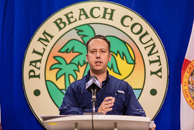 Palm Beach County Mayor Dave Kerner provided a COVID-19 and government status update at the Palm Beach County Emergency Operations Center in West Palm Beach, on Friday July 17, 2020. Kerner updated the media on local actions in Palm Beach County to fight the spread of coronavirus. [JOSEPH FORZANO/palmbeachpost.com]