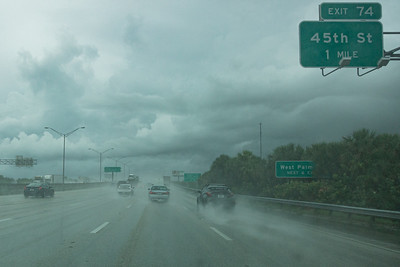 A view of I-95 south in the rain near the 45th Street exit, Wednesday, July 22, 2020. [JOSEPH FORZANO/palmbeachpost.com]