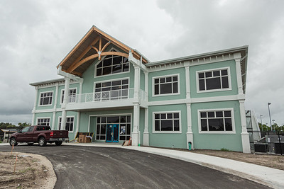 The new clubhouse of Palm Beach Gardens Tennis Center, Wednesday, July 22, 2020. The clubhouse is under construction and should be open for business this September. [JOSEPH FORZANO/palmbeachpost.com]