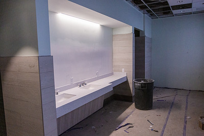 The ladies locker room at the new clubhouse of Palm Beach Gardens Tennis Center, Wednesday, July 22, 2020. The clubhouse is under construction and should be open for business this September. [JOSEPH FORZANO/palmbeachpost.com]
