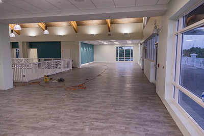 The multipurpose/rental area on the second floor at the new clubhouse of Palm Beach Gardens Tennis Center, Wednesday, July 22, 2020. The clubhouse is under construction and should be open for business this September. [JOSEPH FORZANO/palmbeachpost.com]