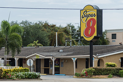 The Super 8 motel on Hypoluxo Road in Lantana, where a woman was found dead in her room from multiple gunshot wounds on Sunday, July 26, 2020. Image captured Monday, July 27, 2020. [JOSEPH FORZANO/palmbeachpost.com]