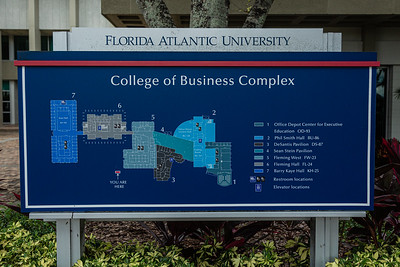 A map of the College of Business Complex on the FAU campus in Boca Raton, Tuesday, August 11, 2020. [JOSEPH FORZANO/palmbeachpost.com]