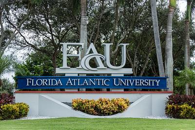 Florida Atlantic University signage on Glades Road, Boca Raton, Tuesday, August 11, 2020. [JOSEPH FORZANO/palmbeachpost.com]
