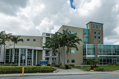 The Desantis Pavilion and the Phil Smith Hall at the College of Business Complex on the FAU campus in Boca Raton, Tuesday, August 11, 2020. [JOSEPH FORZANO/palmbeachpost.com]