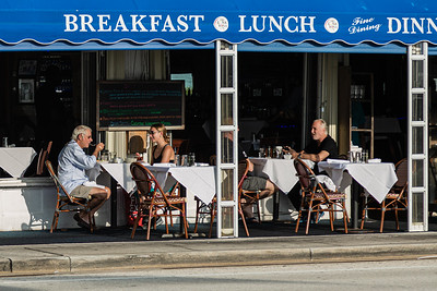 Diners eat breakfast at Cafe Luna Rosa on South Ocean Blvd. in Delray Beach, Thursday, August 20, 2020. [JOSEPH FORZANO/palmbeachpost.com]