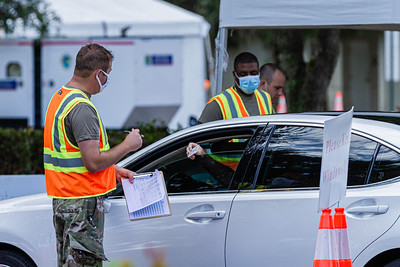 COVID-19 testing continues at the South County Civic Center at 16700 Jog Road, Delray Beach, August 20, 2020. The site is open Tuesday through Saturday and appointments are required for testing. [JOSEPH FORZANO/palmbeachpost.com]
