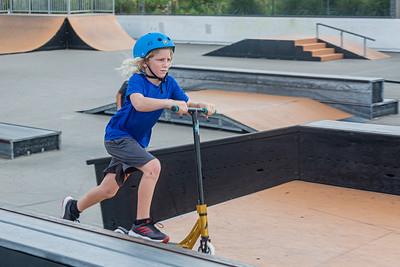 A boy rides a scooter at the skate park in the West Boynton Park and Recreation Center, Friday 28, 2020.Playgrounds reopened in Palm Beach County for the first time since the onset of the coronavirus pandemic.[JOSEPH FORZANO/palmbeachpost.com]