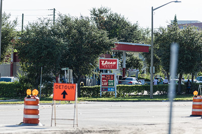 An unidentified man found shot at a Palm Beach Lakes Boulevard gas station Saturday night died, according to West Palm Beach police.  Police found the wounded man at 10:30 p.m. when they reached the scene of a reported shooting at the U-Gas station at 1117 Palm Beach Lakes Boulevard, just west of North Tamarind Avenue. Image captured Sunday, August 30, 2020. [JOSEPH FORZANO/palmbeachpost.com]