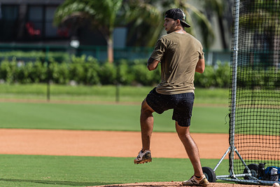 Lyon Richardson, winds up  during a workout at Cressey Sports Performance in Palm Beach Gardens, Thursday, September 3, 2020. Richardson, from Jensen Beach, was drafted in the 2nd round in 2018 by the Pittsburgh Pirates and currently plays Class A ball for the Dayton Dragons. He has been home practicing and working out since the coronavirus pandemic started. [JOSEPH FORZANO/palmbeachpost.com]